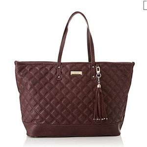 BCBG Quilted Faux Leather Large Tote